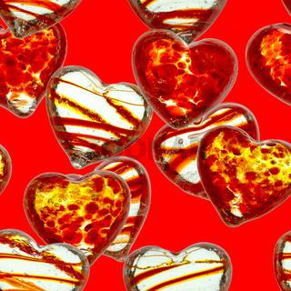 nahtloses Muster mit Herzen