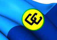Flag of Caribbean Community (CARICOM). Close Up.