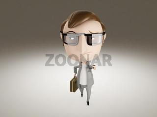 3D business man