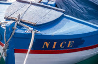 Wooden boat in Nice