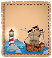 Pirate theme parchment 7 - picture illustration.