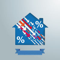 House Hole Downwards Arrows Percentage PiAd