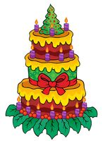 Christmas theme cake image 1 - picture illustration.