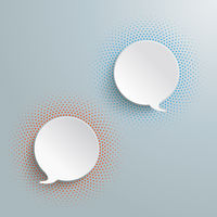 2 Speech Bubbles Halftone PiAd