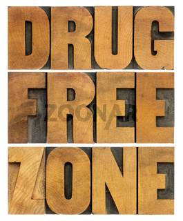 drug free zone in wood type