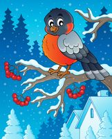 Winter bird theme image 1 - picture illustration.