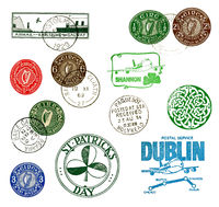 Postage stamps and labels from Ireland