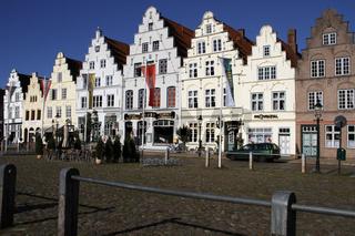 Marktplatz, Friedrichstadt, Nordfriesland, Deutschland