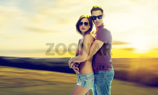Middle Age Romantic Lovers in Fashion Shoot