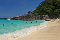 Sandy beach on the Similan Islands, Thailand