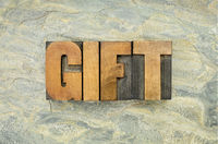 gifr word in wood type