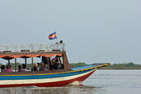 Ferry boat on the Tonle Sap lake, Cambodia