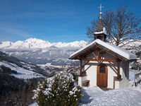 Mountain chapel in the Alps