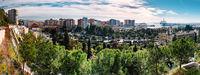 Panorama of Malaga city. Andalusia, Spain