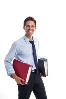 Man with file folders
