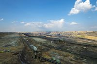The mine Garzweiler II in the sunshine