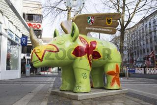 Geflügeltes Nashorn in Dortmund, Deutschland