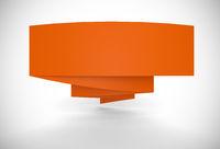 Werbebanner gefaltet - Orange