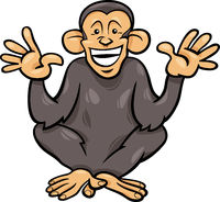 chimpanzee ape animal cartoon illustration