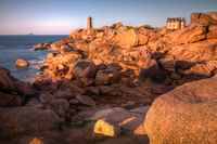 Lighthouse Men Ruz, Pink Granite Coast, Brittany