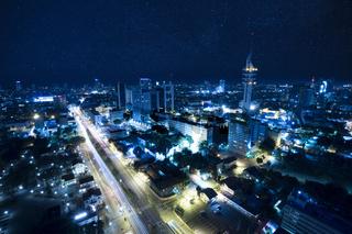 Tel Aviv at Night under the star