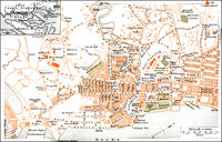 Historical city map, Singapore, Asia, 19th Century