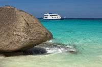 on the coast of the Similan Islands, Thailand