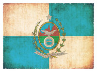 Grunge flag of Rio de Janeiro (Brazil)