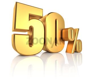 Gold 50 Percent