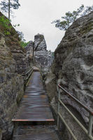 Walkway at the Bastei near Dresden