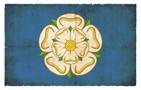Grunge flag of Yorkshire (Great Britain)