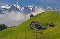 Scattered hamlet in the Swiss Prealps, Switzerland