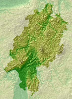 Hesse - topographical relief map