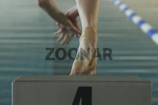 Start beim Schwimmen