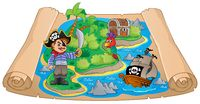 Pirate map theme image 4 - picture illustration.