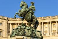 Prinz Eugen Reiterdenkmal in der Hofburg - Wien