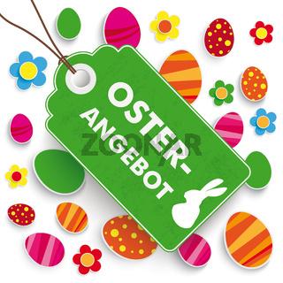 Easter Offer Price Sticker White