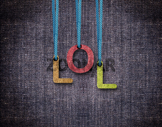 Letters hanging strings