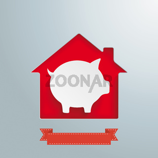 House Hole White Piggy Bank PiAd