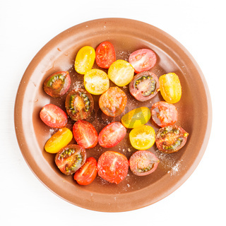 Various types of cherry tomatoes
