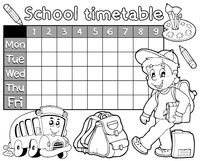 Coloring book school timetable 1 - picture illustration.