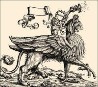 Preco blowing his trumpet, the triumphal procession of the Emperor Maximilian I.