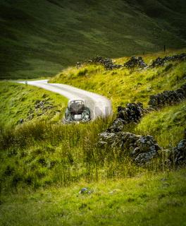 Retro Touring Car In Scotland