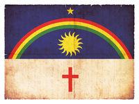 Grunge flag of Pernambuco (Brazil)
