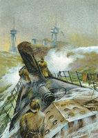 A torpedo boat, c. 1900