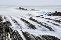 Flysch, Zumaia beach, Basque Country, Spain