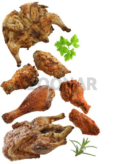 Grilled Chicken,Duck And Turkey Meat