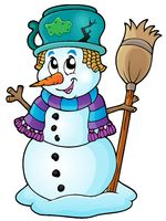 Winter snowman theme image 6 - picture illustration.