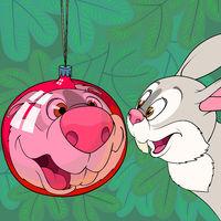 Rabbit and Christmas ball