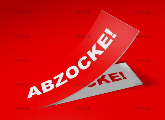 3D Etikett Rot - Abzocke